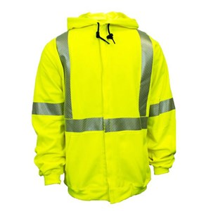 Hi-Vis Flame Resistant Hooded Sweatshirt with Zipper