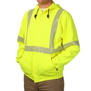 Heavyweight Hi-Vis FR Sweatshirt with Zipper