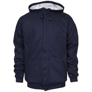 Hooded Zip-Up Sweatshirt Waffle Lined