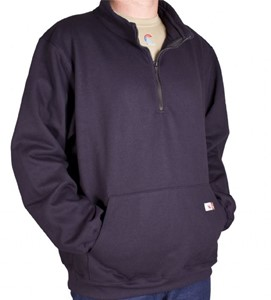 DWR Unlined Half-Zip Fleece with Stand-Up Collar