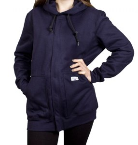 Women's FR Hooded Zip-Front Sweatshirt in UltraSoft Fleece from NSA