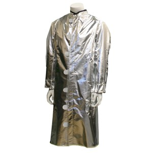 Deluxe Ventilated Aluminized Carbon Kevlar Coat/Green Sateen Back