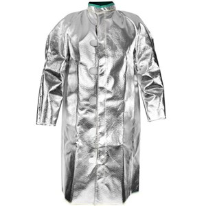 "Deluxe Ventilated 45"" 19 oz. Aluminized Carbon / Para-Aramid Coat"