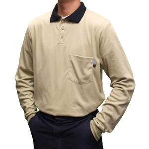 Classic Cotton Long-Sleeve FR Polo Shirt