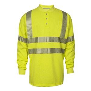 Hi-Vis FR Long Sleeve Henley
