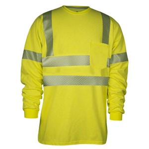 Hi-Vis Long Sleeve Tee with Pocket