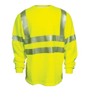 Dual Action Hi-Vis Long Sleeve T-Shirt, ANSI 107, Class 3