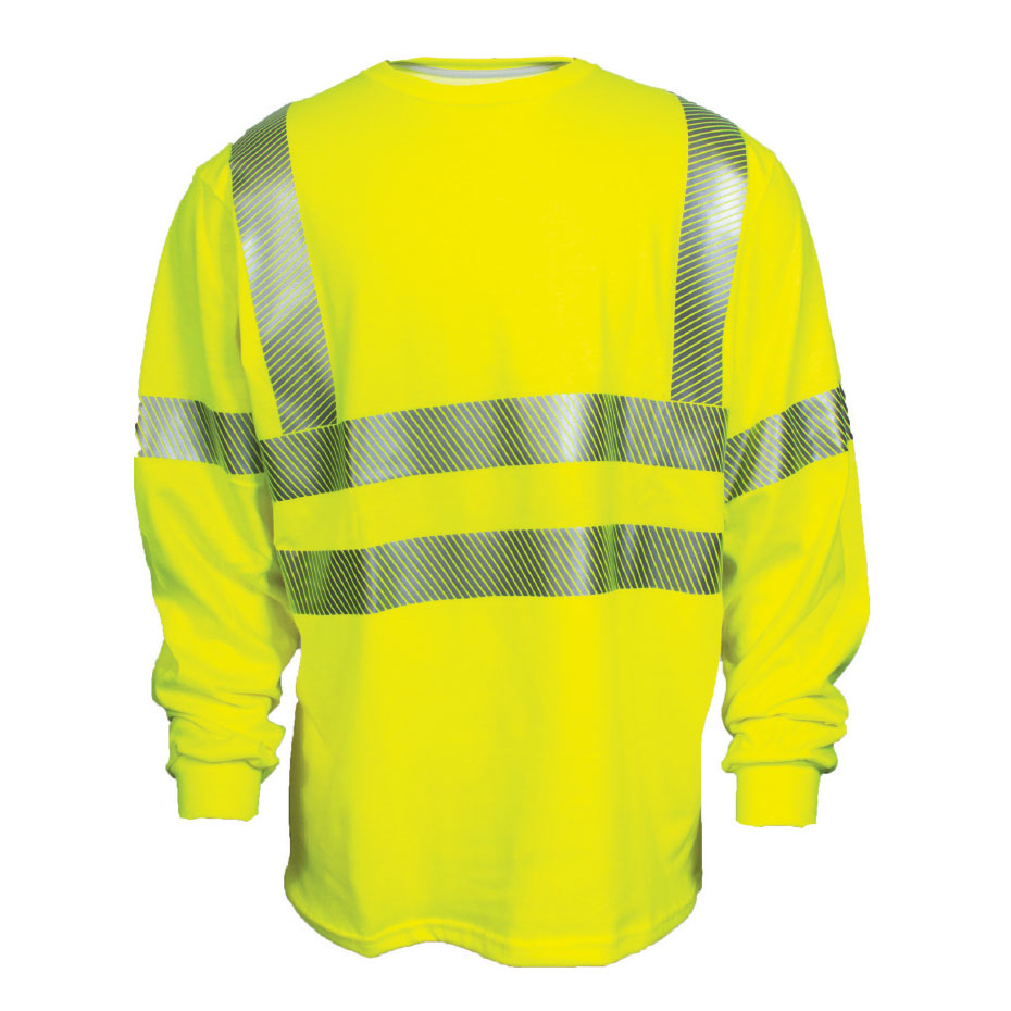 Hi Viz Long Sleeve T Shirt Ansi 107 Class 3