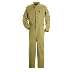 FR Deluxe Contractor Coverall in 9 oz. 100% Cotton in Khaki