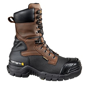 "10"" Brown Pac Boot with Safety Toe"