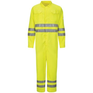 Hi-Vis Deluxe FR Coverall with Reflective Trim