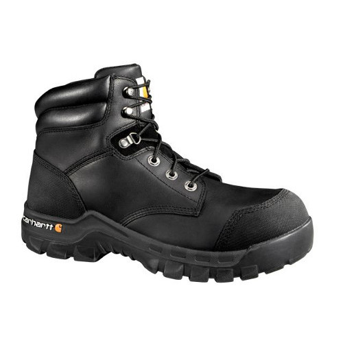 Men's 6-Inch Black Rugged Flex Waterproof Boot