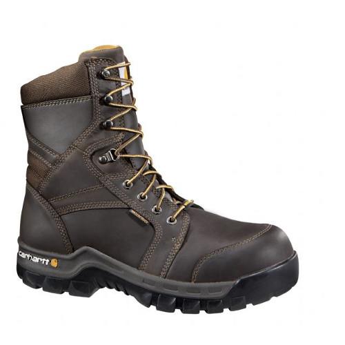 "Men's 8"" Brown Rugged Flex Waterproof Insulated Boot"