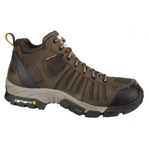 Men's Lightweight Brown Waterproof Work Hiker Boot with Composite Toe