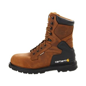 Men's 8-Inch Bison Waterproof Boot - Safety Toe - 9.5M & 14M