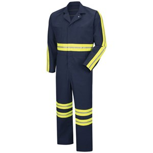 Enhanced Visibility Twill Action Back Coverall