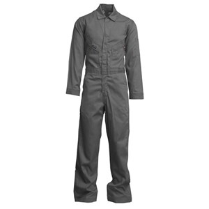 "LAPCO 7 oz. FR Deluxe Coverall with 2"" Silver Trim"