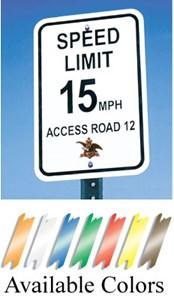 "Custom Aluminum Reflective Sign 9""X12"""