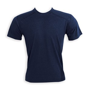 Midweight Flame Resistant Short Sleeve Tee in Navy Blue