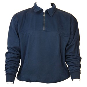 FR Job Shirt Single Sided Fleece in Navy