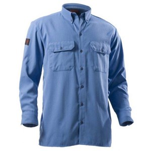 12.1 cal Arc Rated FR Button Front Work Shirt in Medium Blue