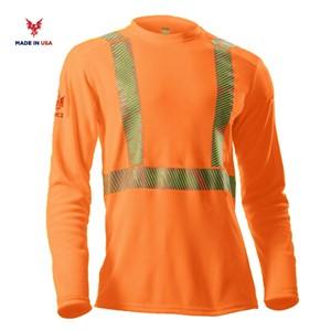 Heavyweight Long Sleeve Shirt, Class 2 Orange