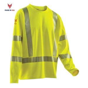 Hi-Viz Comfort Mesh Long Sleeve Shirt in Yellow