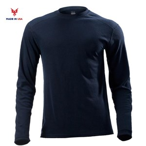 FR Midweight Long Sleeve Tee in Navy