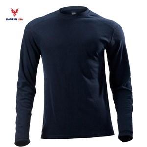 FR Midweight Long Sleeve Tee in Navy