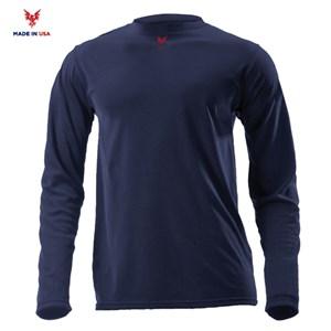 FR Lightweight Long Sleeve Tee in Navy