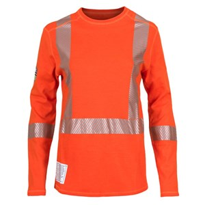 Women's FR Hi-Vis Power Dry Dual Hazard Shirt