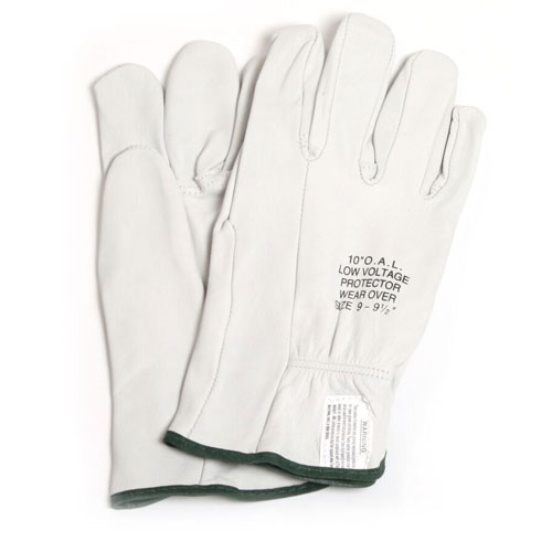 Voltage Rated Gloves : Quot leather protectors for rubber voltage gloves