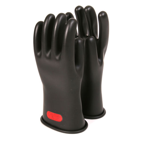 Voltage Rated Gloves : Inch class rubber voltage gloves