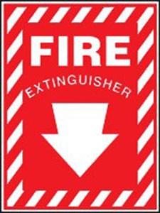FIRE EXTINGUISHER w/ Arrow