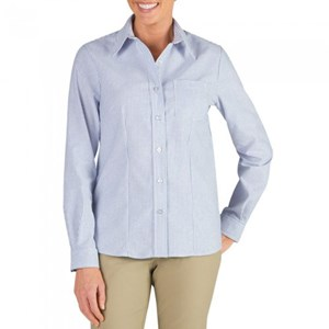 Women's Long Sleeve Stretch Oxford Shirt