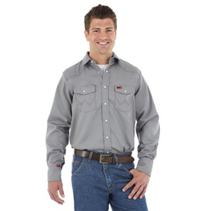 Men's Western Work Shirt in Charcoal