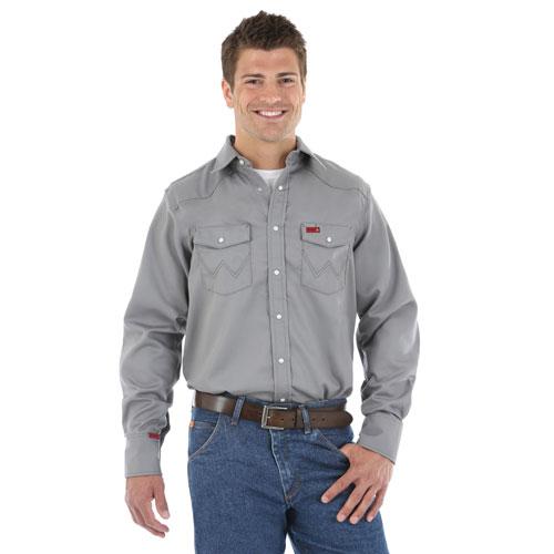 Men's Western Work Shirt in Charcoal