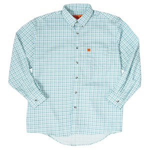 Wrangler FR Western Plaid Shirt in Turquoise Plaid