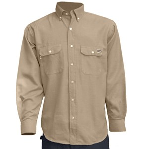 TECGEN Select 5.5 oz. Dress Uniform Shirt in Tan