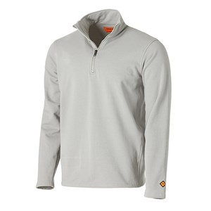Wrangler FR Long Sleeve Quarter-Zip Fleece Pullover