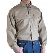 Button Down FR Work Shirt with Pocket Flap
