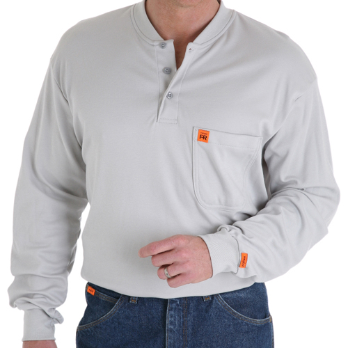Fr Henley Shirt Riggs Workwear By Wrangler
