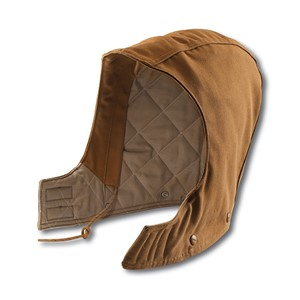 Flame Resistant Duck Hood / Quilt Lined - Brown
