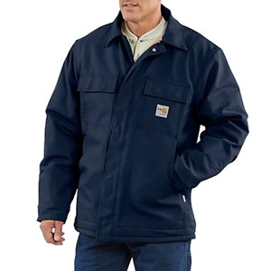 Carhartt Quilt-Lined FR Duck Traditional Coat in Navy