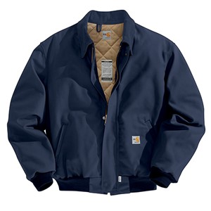 Carhartt FR Duck Bomber Jacket with Quilt Lining - Navy