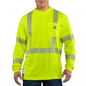 Inherently FR Carhartt Hi-Vis Class 3 Long Sleeve Tee