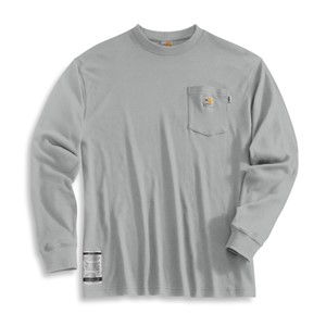 Flame Resistant Long-Sleeve T-Shirt in Light Grey