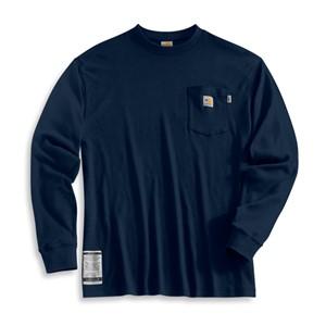 Carhartt Long-Sleeve FR T-Shirt in Navy Blue
