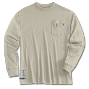 Flame Resistant Long-Sleeve T-Shirt in Sand