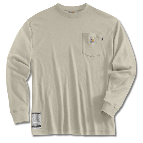Flame Resistant Long Sleeve T Shirt In Sand Frk294